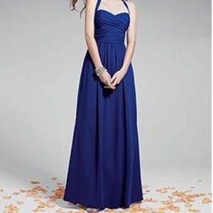 Cobalt blue plus sized bridesmaid dress
